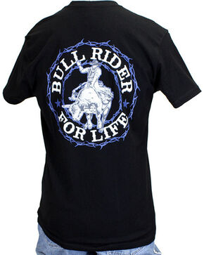 Cowboy Hardware Men's Bull Rider For Life Tee, Black, hi-res
