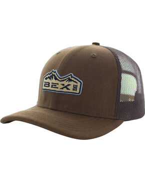 BEX Men's Bryce Cotton Canvas Mesh Cap, Brown, hi-res