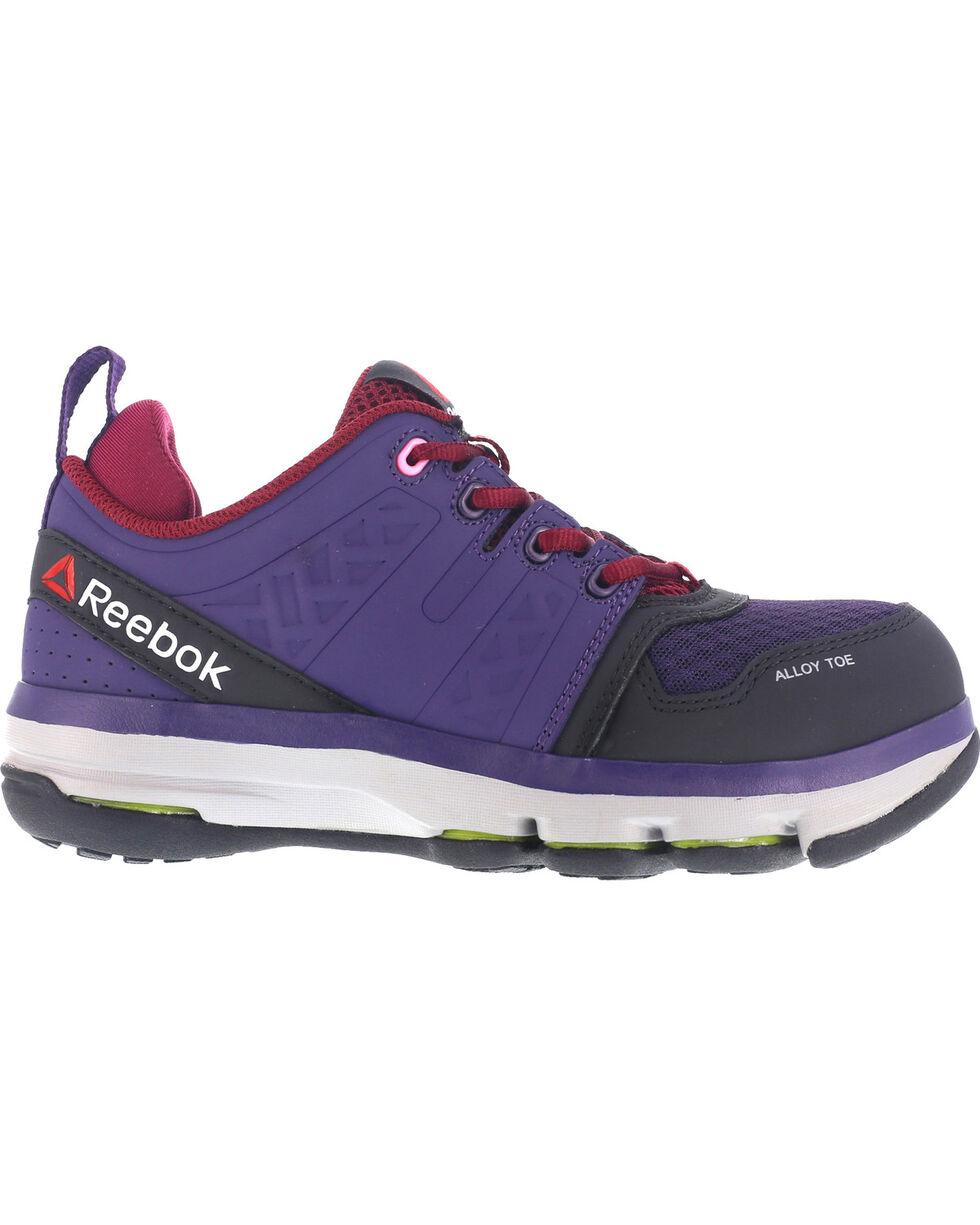 Reebok Women's Violet Athletic Oxford DMX Flex Work Shoes - Alloy Toe , Violet, hi-res