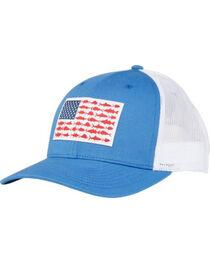 Columbia Men's Blue PFG Mesh Fish Flag Cap, , hi-res