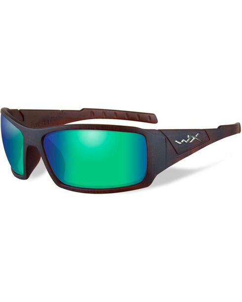 Wiley X Twisted Polarized Mirror Sunglasses , Brown, hi-res