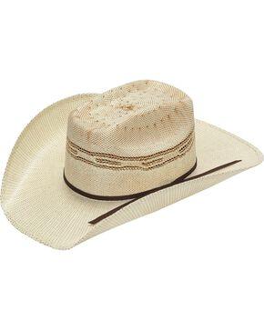 Twister Kids' Tan Bangora Straw Cowboy Hat, Tan, hi-res