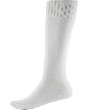 Thorlo Men's Single Pair Western Boot Socks, White, hi-res