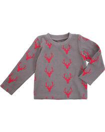 Wrangler Toddler Boys' Grey Deer Print Tee , , hi-res