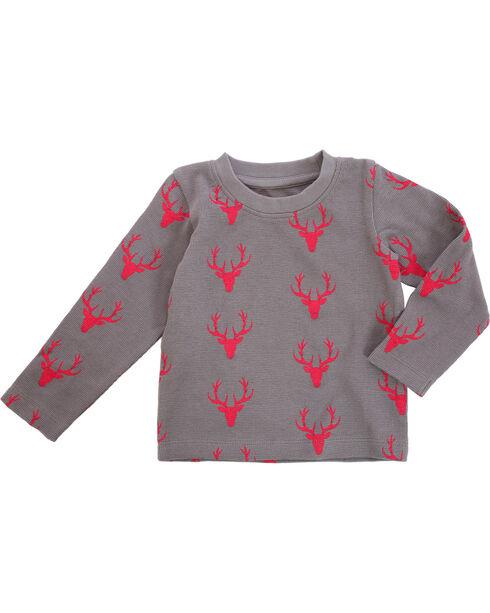 Wrangler Toddler Boys' Grey Deer Print Tee , Grey, hi-res