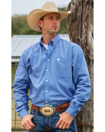 Cinch Men's Plaid Print Long Sleeve Shirt, , hi-res