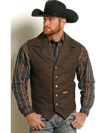 Powder River Outfitters Men's Brown Wool Montana Vest , , hi-res