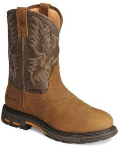 Ariat Mens WorkHog Waterproof Pro Work Boots Aged Bark hires