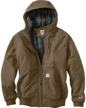 Carhartt Men's Quick Duck Jefferson Active Jacket, Brown, hi-res