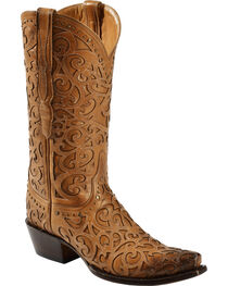 Lucchese Women's Sierra Laser-Cut Overlay Western Boots, , hi-res