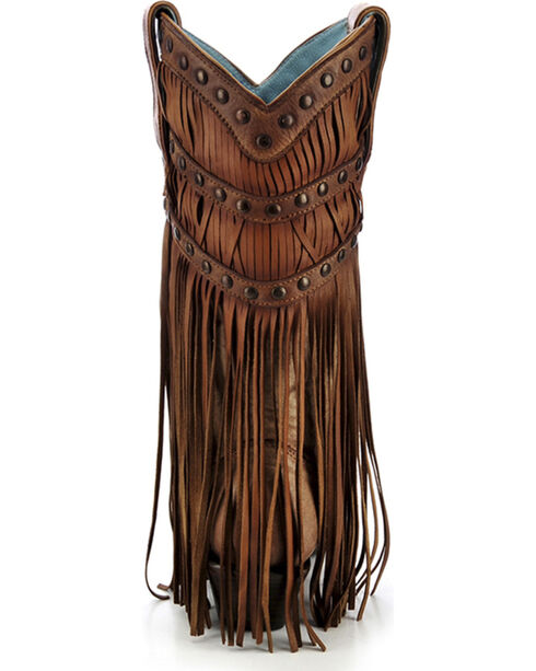 Corral Women's Fringe Layered Western Boots, Tan, hi-res