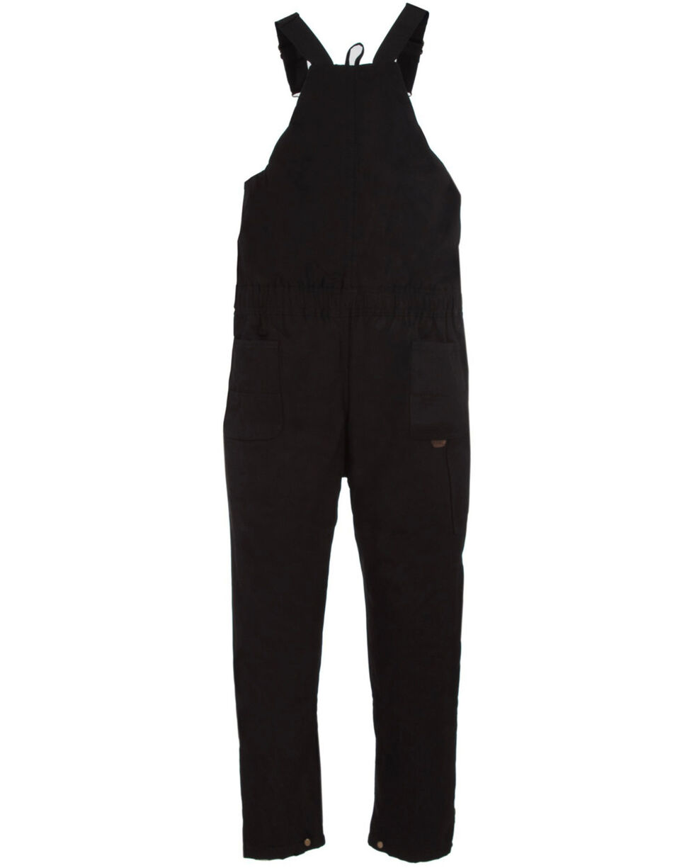 Berne Light Brown Duck Deluxe Insulated Bib Overalls - Big and Tall, Black, hi-res