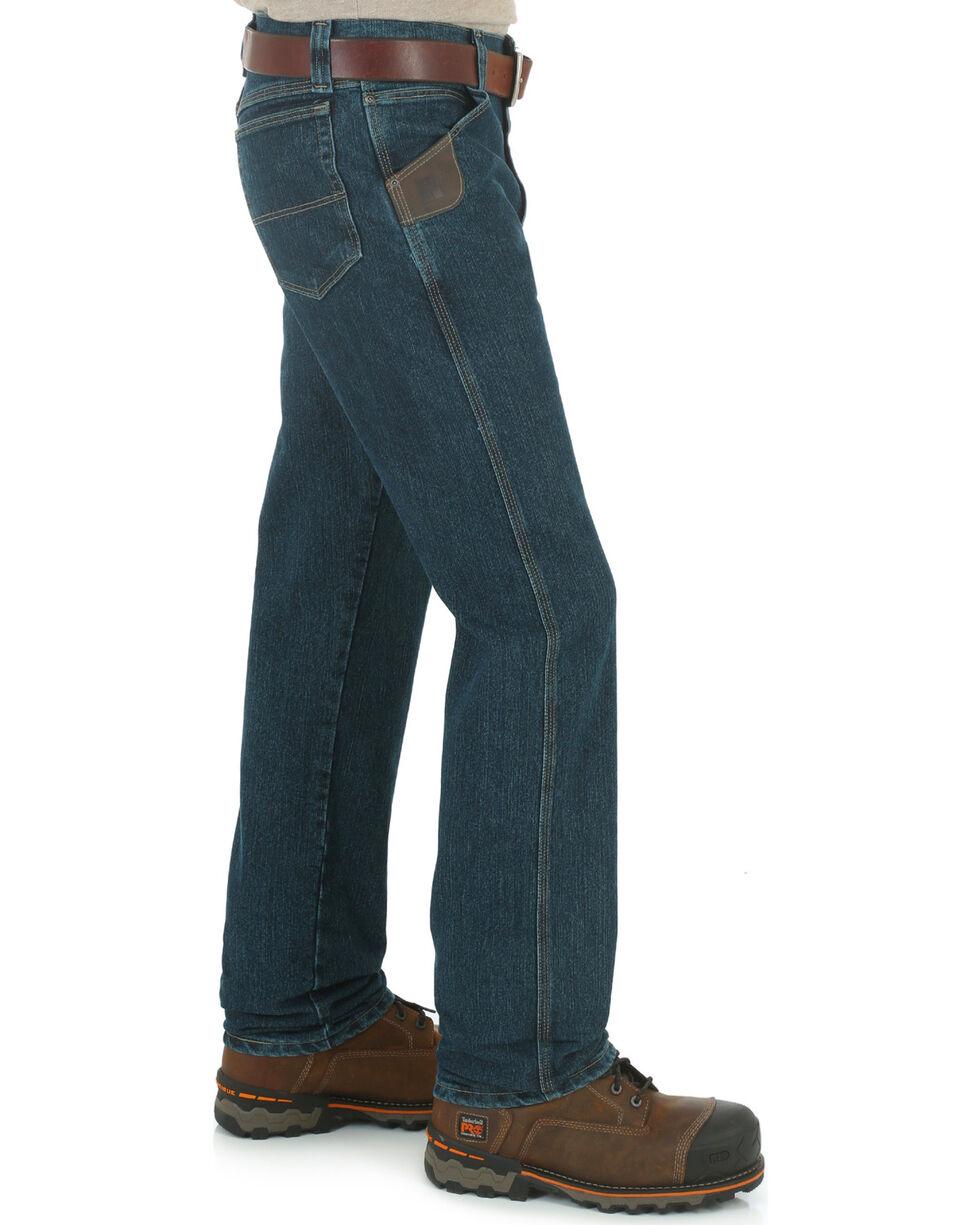Wrangler Men's RIGGS Advanced Comfort Five-Pocket Jeans, Dark Tint, hi-res
