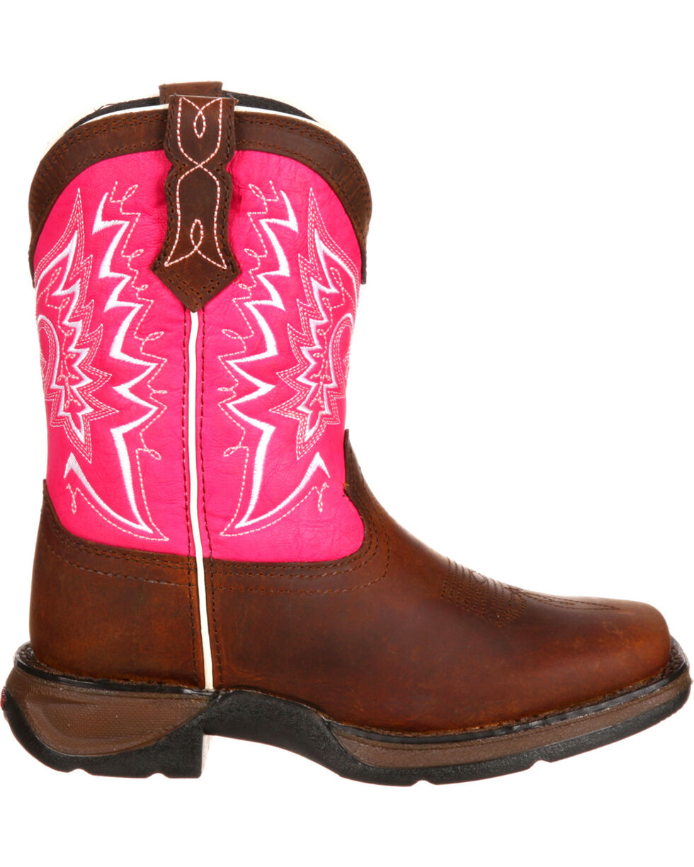 Lil' Durango Girls' Let Love Fly Western Boots, Brown, hi-res