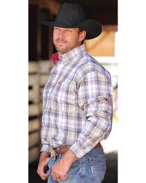 Cinch Men's Multi Plain Weave Button Down Long Sleeve Shirt , , hi-res