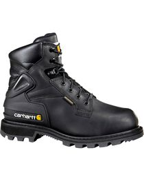 "Carhartt 6"" Black Work Boots - Safety Toe, , hi-res"