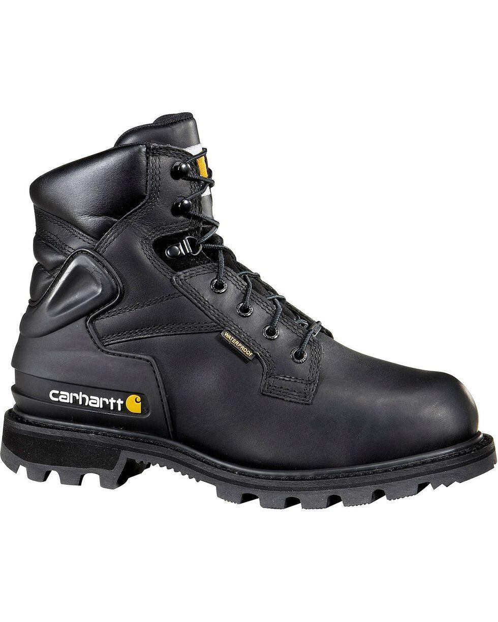 "Carhartt 6"" Black Work Boots - Safety Toe, Black, hi-res"