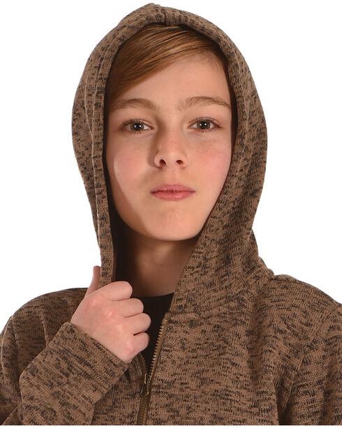 Cody James Boys' Fleece Camp Sweater, Brown, hi-res