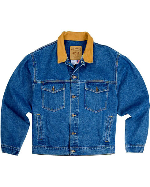 Schaefer Outfitter Men's Legend Denim Jacket , Indigo, hi-res