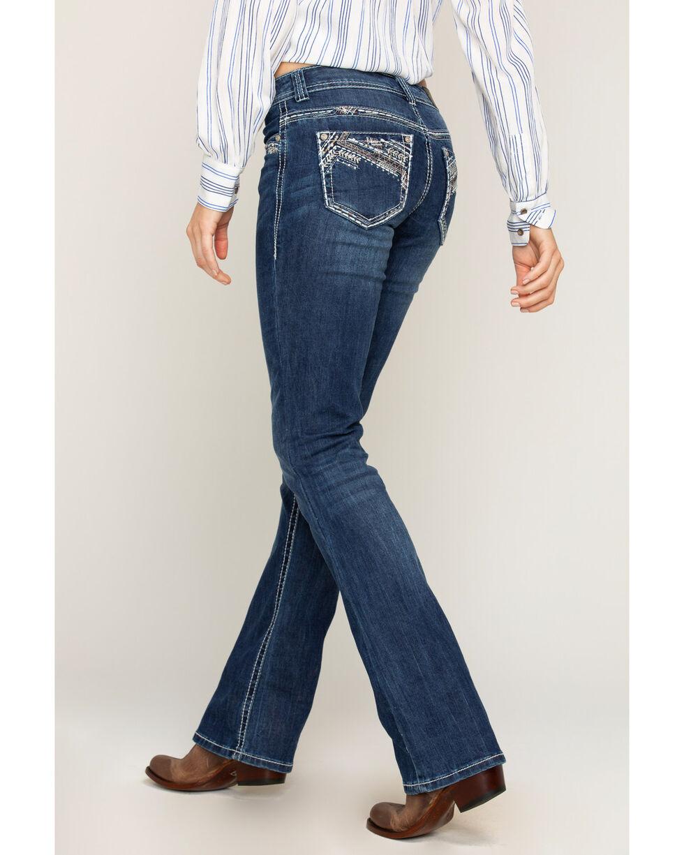 Shyanne Women's Heavy Stitched Boot Cut Jeans, , hi-res