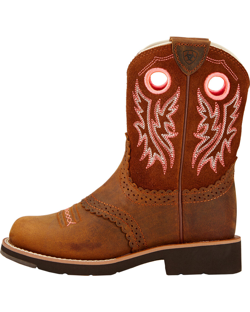 Ariat Kid's Fat Baby Round Toe Western Boots, Brown, hi-res