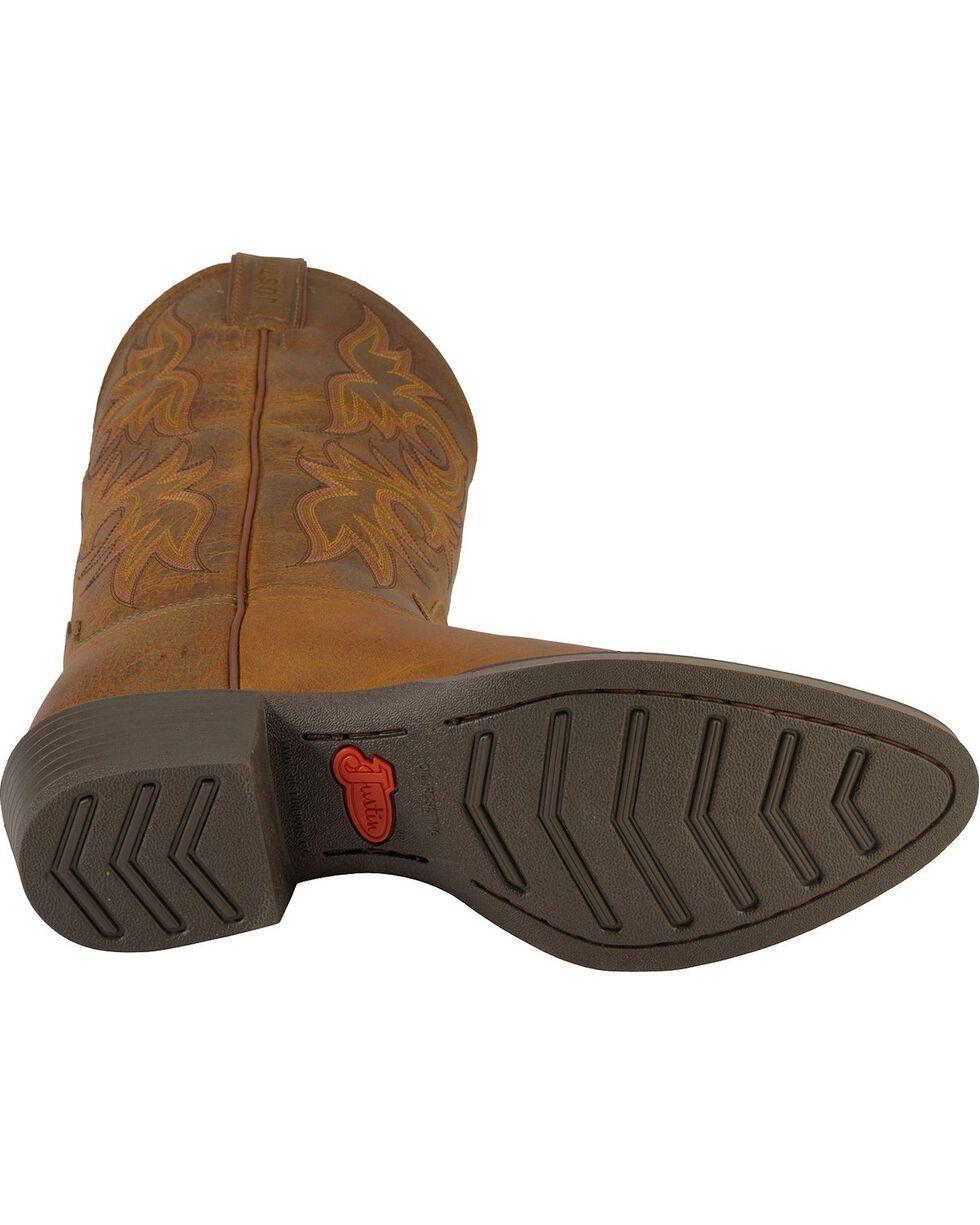 """Justin Men's 13"""" Western Boots, Tan, hi-res"""