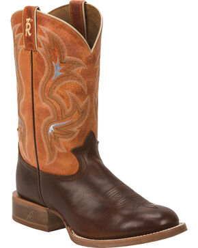 Tony Lama 3R Men's Crocket Stockman Boots, Cognac, hi-res