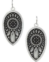 Montana Silversmiths Women's Sunset Prairie Clover Earrings, , hi-res