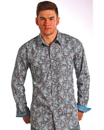 Rough Stock by Panhandle Men's Floral Long Sleeve Shirt, , hi-res