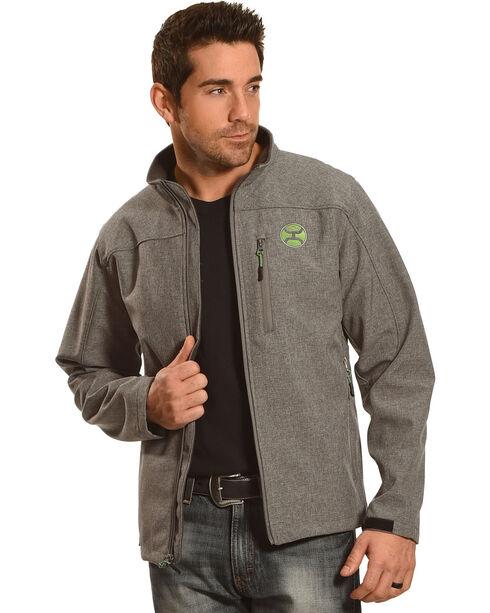 Hooey Men's Zip-Up Soft Shell Jacket, Grey, hi-res