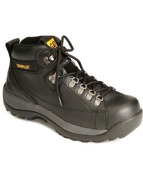 CAT Men's Hydraulic Steel Toe Hiker Boots, Black, hi-res
