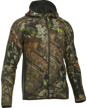 Under Armour Men's Stealth Hooded Jacket, Mossy Oak, hi-res