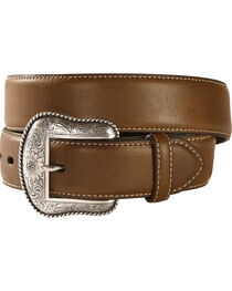 Nocona Solid Brown Western Belt, , hi-res