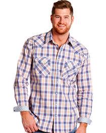 Panhandle Slim Men's Rough Stock Rockland Vintage Ombre Plaid Shirt , , hi-res