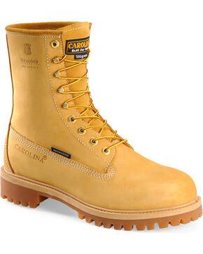 "Carolina Men's Basic 8"" Work Boots, Wheat, hi-res"