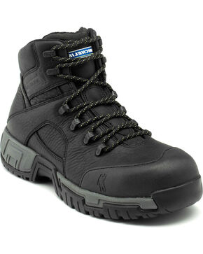 Michelin HydroEdge Waterproof Work Boots, Black, hi-res