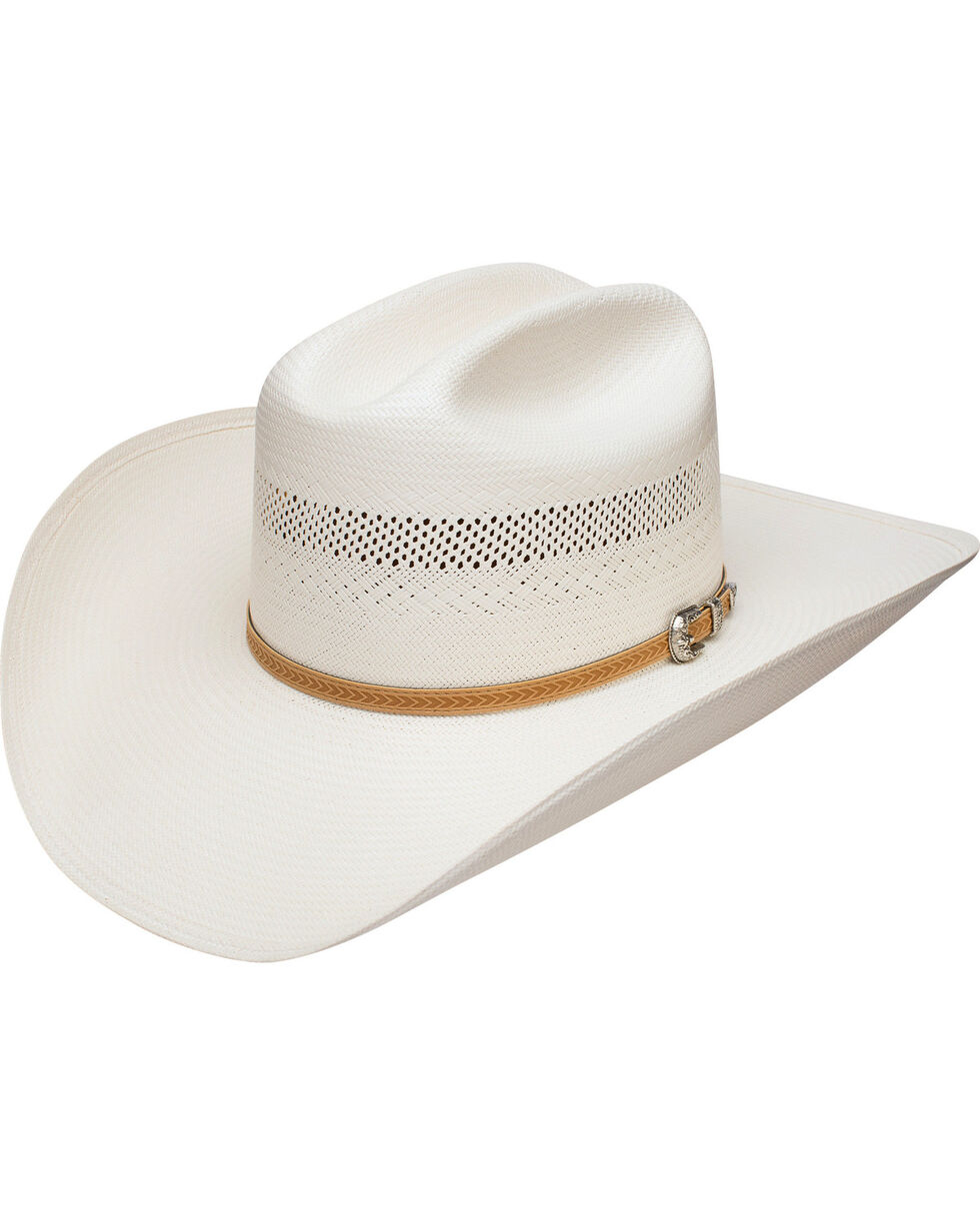 Stetson Men's Arapaho 10X Straw Vented Cowboy Hat, Natural, hi-res
