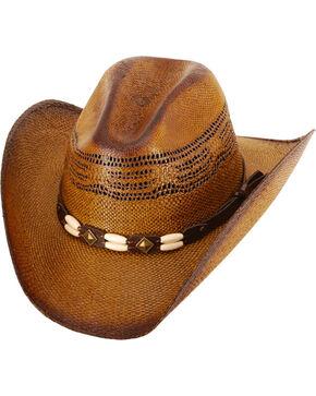 Western Express Kids' Brown Brockway Straw Hat , Dark Brown, hi-res