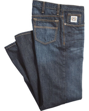Cinch Men's White Label Dark Denim Jeans - Straight Leg, Indigo, hi-res