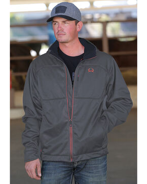 Cinch Men's Grey Hooded Softshell Jacket , Grey, hi-res