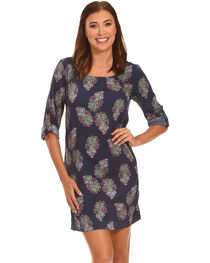 Rock & Roll Cowgirl Women's Long Sleeve Paisley Dress , , hi-res