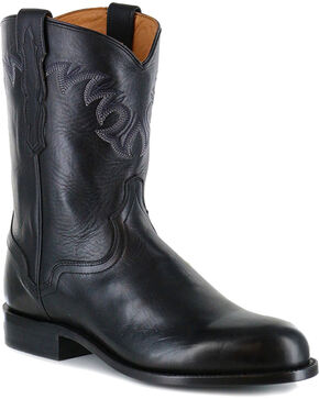 El Dorado Men's Embroidered Western Boots, Black, hi-res