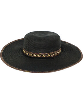 Peter Grimm Women's Paxi Straw Hat , Black, hi-res