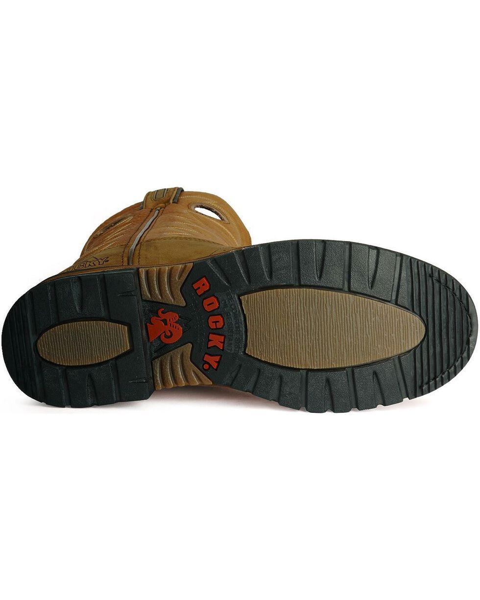 Rocky Men's Branson Waterproof Western Work Boots, Aztec, hi-res