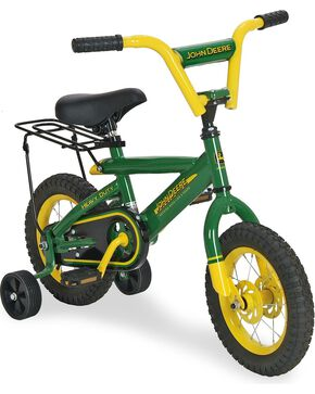"John Deere Kids' 12"" Bicycle, Green, hi-res"