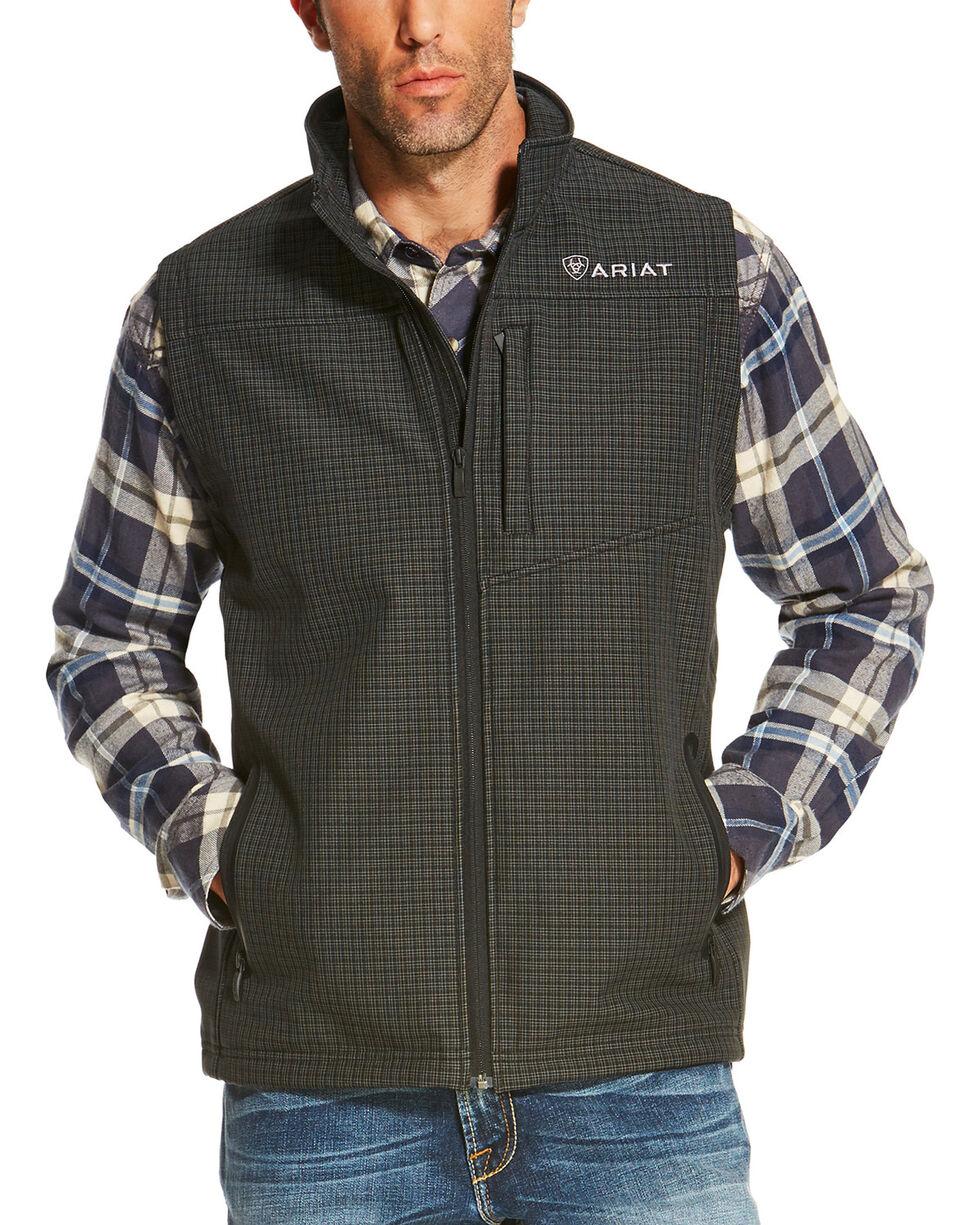 Ariat Men's Black Vernon Soft Shell Grid Vest , , hi-res