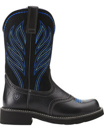 """Ariat Women's Probaby Flame 10"""" Western Boots, Black, hi-res"""