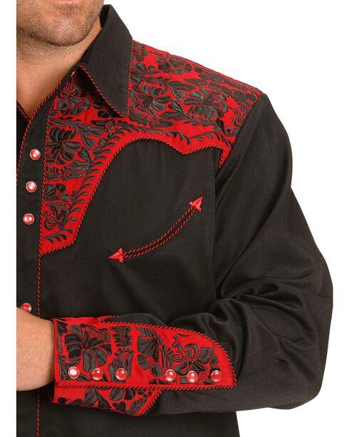Scully Men's Gunfighter Western Shirt, Black, hi-res