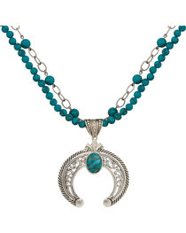 Montana Silversmiths Turquoise Squash Blossom Statement Necklace, , hi-res