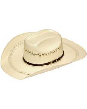 Twister 20X Shantung Buckle Band Straw Cowboy Hat, Tan, hi-res